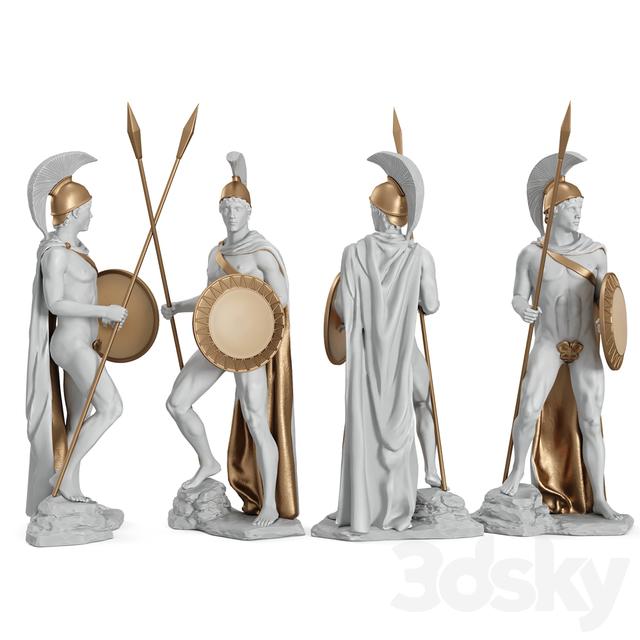 مدل سه بعدی مجسمه سرباز