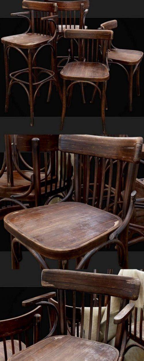 دانلود آبجکت صندلی قدیمی