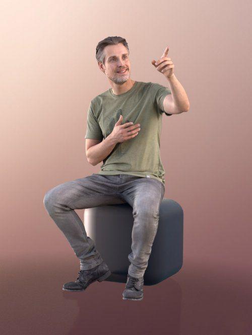 دانلود مدل سه بعدی انسان نشسته