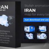 دانلود پروژه افترافکت نقشه ایران