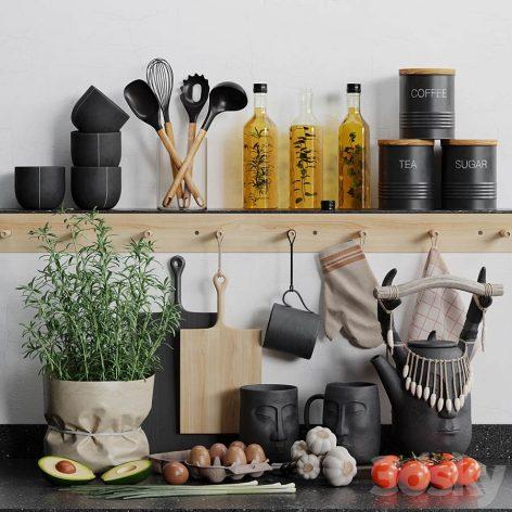 دانلود مدل سه بعدی لوازم آشپزخانه