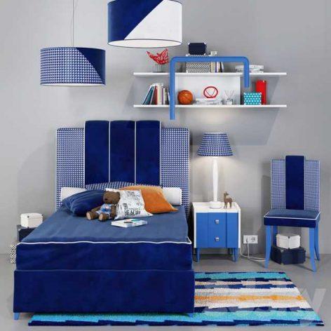 دانلود ست اتاق پسرانه ست آبی