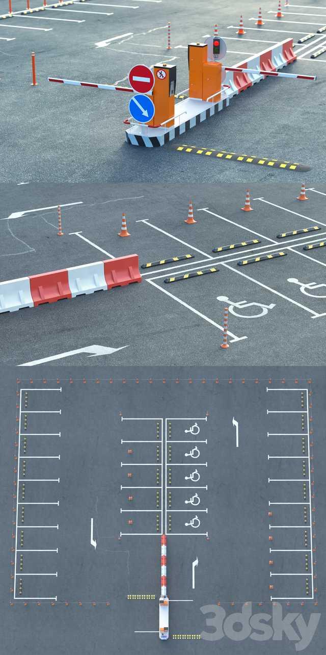 دانلود مدل سه بعدی لوازم خیابان