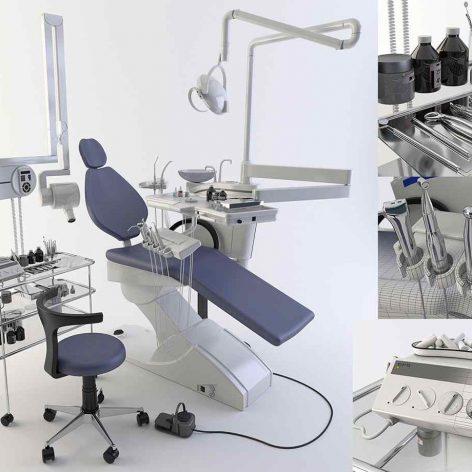 دانلود مدل سه بعدی تجهیزات دندانپزشکی