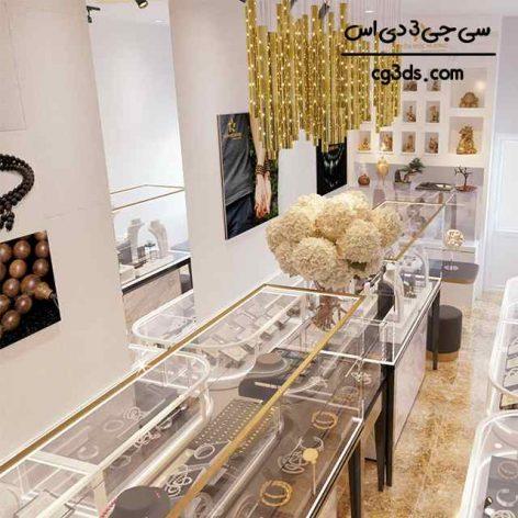 صحنه آماده مغازه طلا فروشی