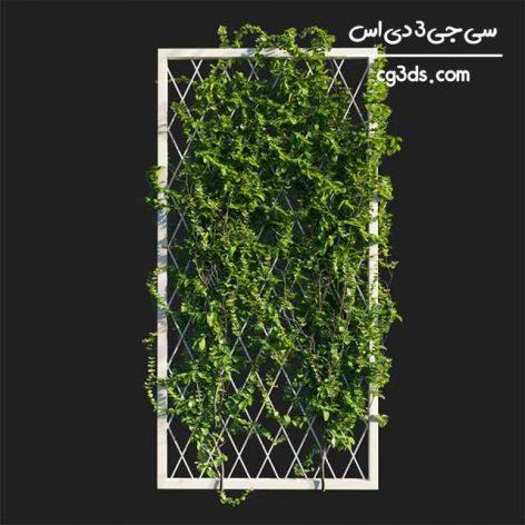 آبجکت سه بعدی گیاه دیواری