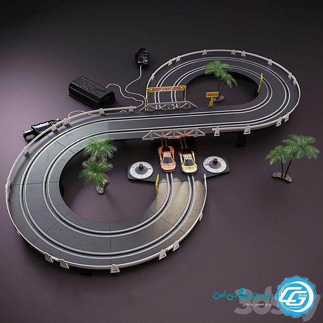 مدل سه بعدی اسباب بازی ماشین کنترل از راه دور